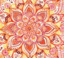 Full Watercolour Orange Mandala Sticker