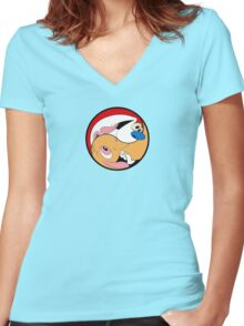 Ren Yang Women's Fitted V-Neck T-Shirt