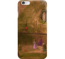 The Grotto of our Lady of Lourdes. 1800s. iPhone Case/Skin