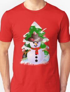 Snowman and birdies T-Shirt