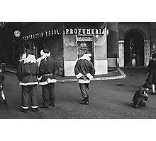 Piazza Navona Santas Photographic Print