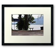 From under the shades 3 Framed Print
