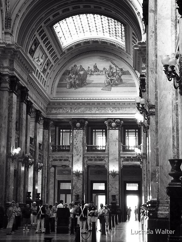 Legislative Palace ~ Montevideo Uruguay in Black & White by Lucinda Walter