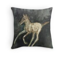 galloping foal Throw Pillow