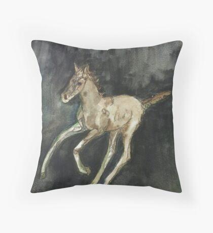 galloping foal Throw Pillow