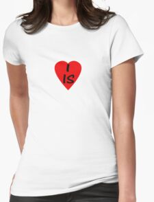 I Love Iceland - Country Code IS T-Shirt & Sticker Womens Fitted T-Shirt