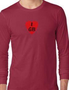 I Love Great Britain - Country Code GB T-Shirt & Sticker Long Sleeve T-Shirt