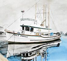 Holy Family - Old timer in San Pedro CA by Rob Beilby