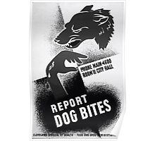 WPA United States Government Work Project Administration Poster 0425 Report Dog Bites Poster