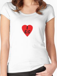 I Love Spain - Country Code ES T-Shirt & Sticker Women's Fitted Scoop T-Shirt