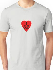 I Love Country Code CZ-Czech Republic T-Shirt & Sticker Unisex T-Shirt