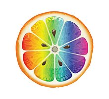 Rainbow Orange Photographic Print