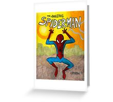 Spidey swings at sunset Greeting Card