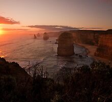 12 apostles at sunset by scozzie