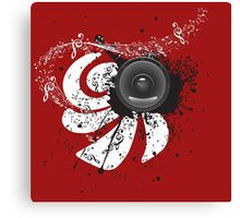 Music Poster with Audio Speaker 4 Canvas Print