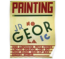 WPA United States Government Work Project Administration Poster 0299 Printing Geor Jobs Poster