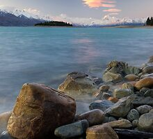Glacial Sunset by Michael Treloar