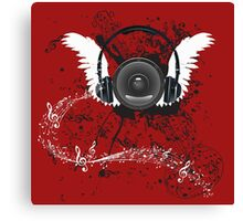 Music Poster with Audio Speaker 5 Canvas Print