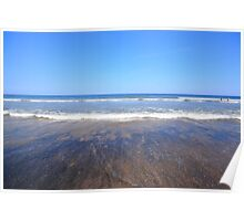 Sand Surf Sea and Sky Poster