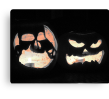 2 Jack-O-Lanterns Canvas Print