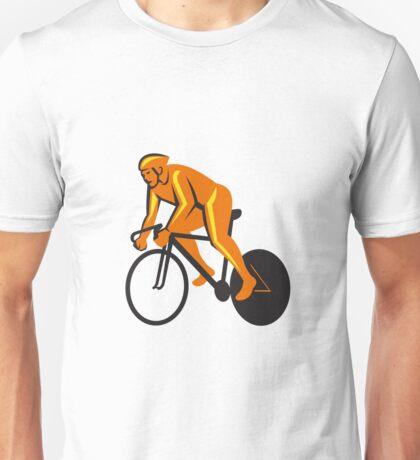 Cyclist Riding Cycling Racing Retro Unisex T-Shirt