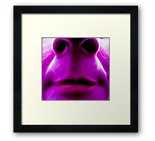 Not such a pretty Flower on the Face of things Framed Print