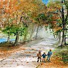 Three Brothers - Autumn Walk by Rob Beilby