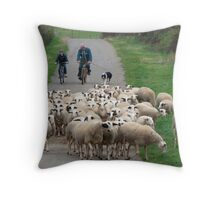 Bringing Them In For the Night Throw Pillow