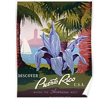 WPA United States Government Work Project Administration Poster 0121 Discover Puerto Rico Where the Americas Meet Poster