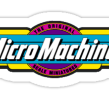 Micro Machines Logo Sticker