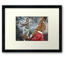 FIGHT OF THE CENTURY Framed Print