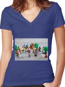 Medieval Affaire Women's Fitted V-Neck T-Shirt