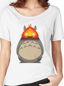 Totoro Meets Calcifer Women's Relaxed Fit T-Shirt