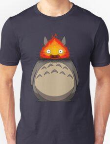 Totoro Meets Calcifer Unisex T-Shirt