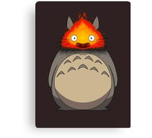 Totoro Meets Calcifer Canvas Print