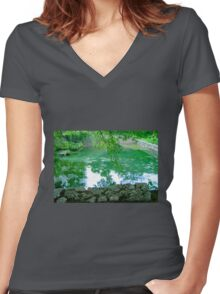 Il Pietreto, Tuscany  Women's Fitted V-Neck T-Shirt