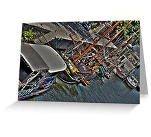 River Seine Boats Greeting Card