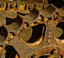 Rusty Drive Sprocket in detail by Mike  Wood