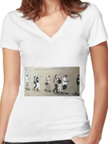 Obsolete programme....  Women's Fitted V-Neck T-Shirt