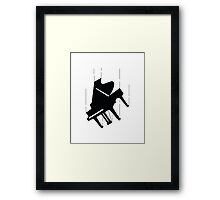 Falling Piano Framed Print