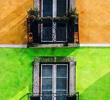 Vintage Apartment Balconies by Phil Perkins