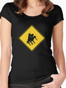 Falling Piano Women's Fitted Scoop T-Shirt