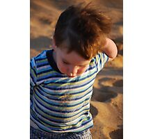 Grover at beach Photographic Print