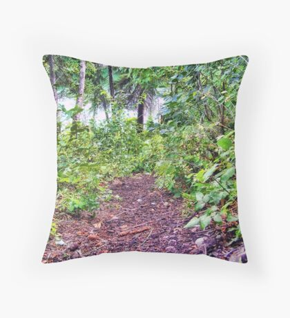 Path to the River Throw Pillow
