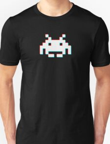 Red Cyan 3D Invader T-Shirt