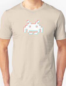 Red Cyan 3D Invader Unisex T-Shirt