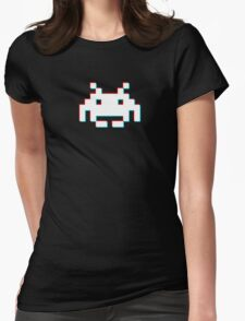 Red Cyan 3D Invader Womens Fitted T-Shirt