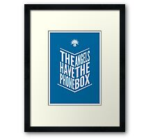 The Angels Have The Phone Box Tribute Poster White On Blue Framed Print