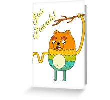 Bravest Warriors Adventure Time - Bear Jake the Dog Gas Powah Greeting Card