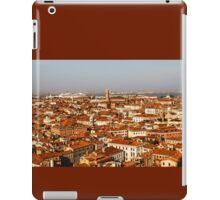 Impressions of Venice - Red Roofs and Cruise Ships iPad Case/Skin